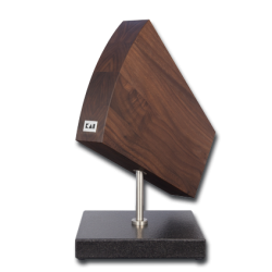 KAI DM 0799 KNIFE BLOCK, GRANITE/WALNUT 360° TURNTABLE 31/ 18/ 34 CM L/W/H