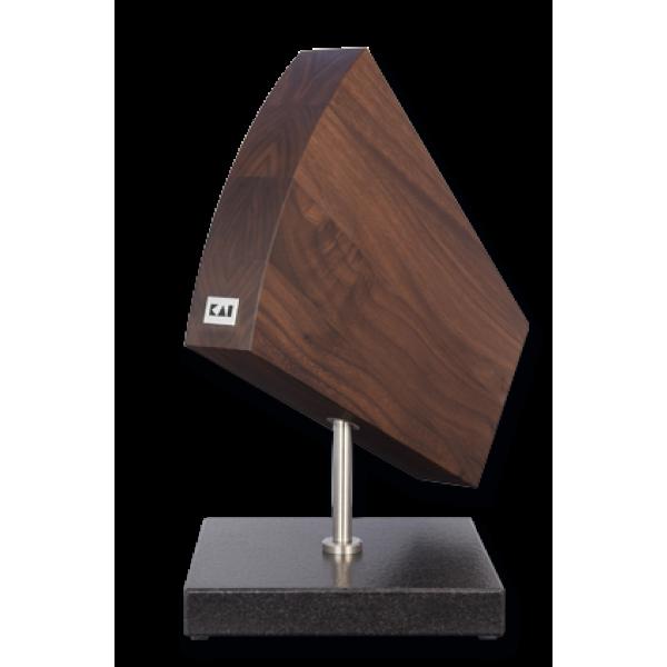 KAI DM 0799 KNIFE BLOCK, GRANITE/WALNUT 360° TURNTABLE 31/ 18/ 34 CM L/W/H