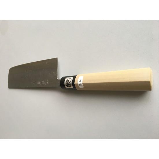 Kanetsune White Steel No.2 Nashiji Nakiri Japanese Knife 165mm with Magnolia Handle × 1