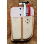 KST109 Double leather holster Okatsune 109: for pruner and saw