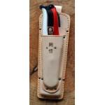 KST130 Двоен кожен калъф Okatsune 130: за ножица и трион