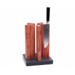 KAI STH 1, KNIFE BLOCK STONEHENGE, GRANITE/REDWOOD FOR 10 KNIVES, 21/ 21/ 30.5 CM L/W/H