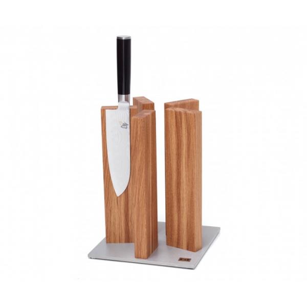 KAI STH 3, KNIFE BLOCK STONEHENGE, STAINLESS STEEL/OAK FOR 10 KNIVES