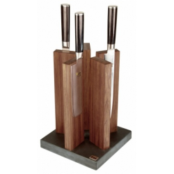 KAI STH 4, KNIFE BLOCK STONEHENGE, GRANITE/WALNUT