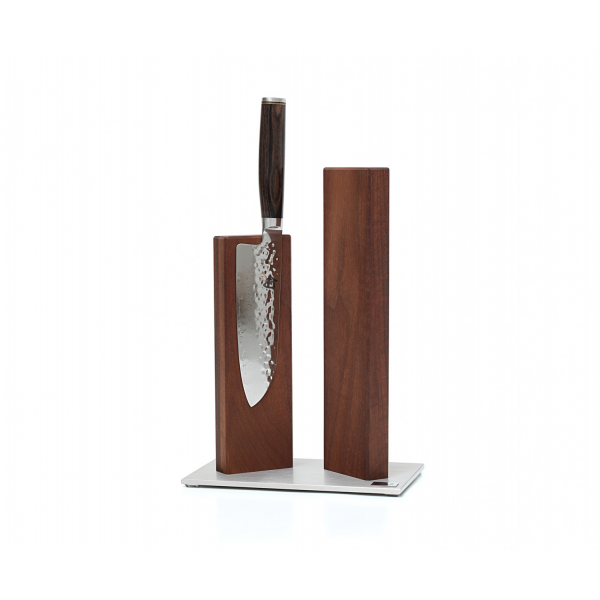 KAI STH 4.1 KNIFE BLOCK STONEHENGE STAINLESS STEEL/WALNUT