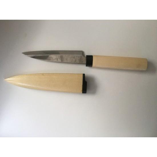 SUN 428N Нож за плодове с дървен калъф натурален