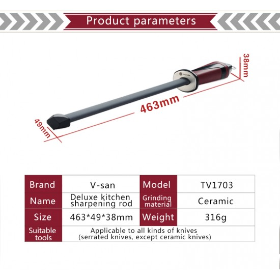 TAI TV 1703 Керамично-диамантено точило-масат, овално, дължина 28,5 см