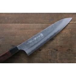 Yoshimi Kato Blue Super Nashiji Gyuto Japanese Knife 210mm with Black Honduras Handle