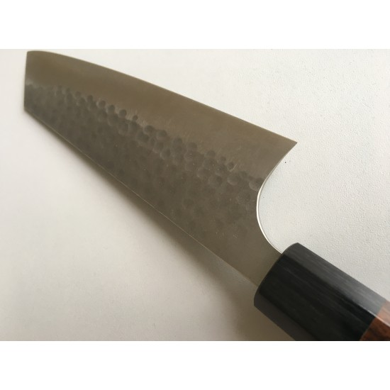 Yoshimi Kato Silver Steel No.3 Hammered Bunka Japanese Chef Knife 160mm with Shitan Handle × 1